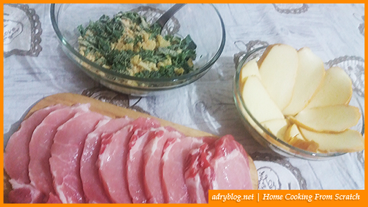 cheesy sliced pork loin in garlic crumb crust ingredients
