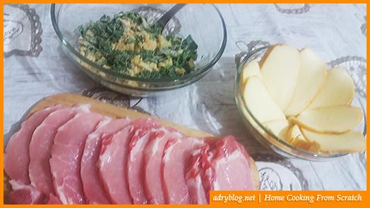 cheesy sliced pork loin in garlic crumb crust ingredients