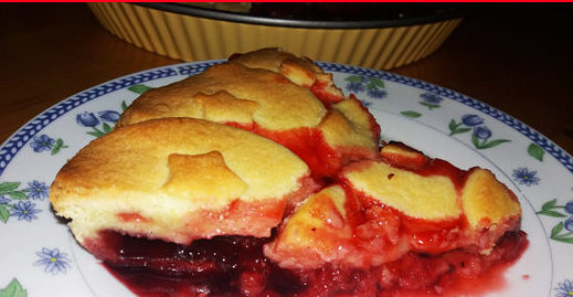 Strawberry pie baked from scratch