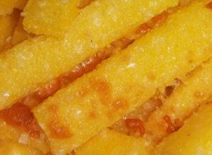 Baked polenta sticks quick easy recipe