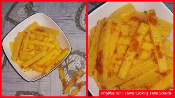 Baked polenta sticks quick easy recipe