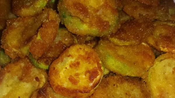 Crisp breaded zucchini