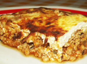 eggplant ground meat casserole mousaka recipe