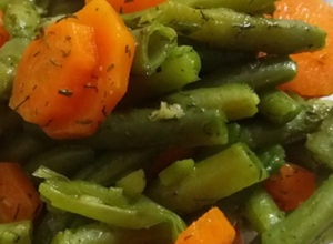 green bean and carrot salad