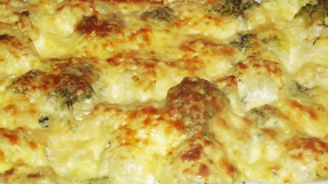 Broccoli Cauliflower Casserole homemade recipe from scratch