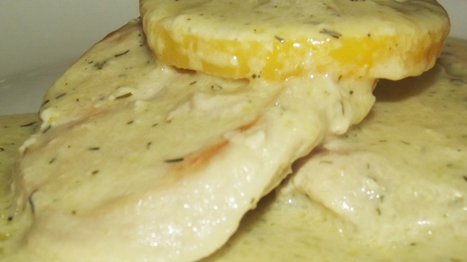 Quick and easy recipe: chicken slices in curry sauce