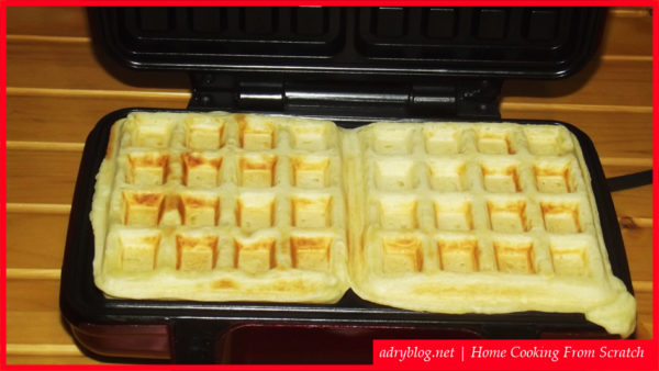 quick and easy waffles recipe