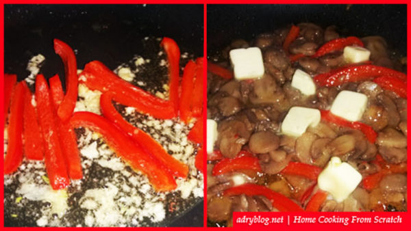 mushroom and pepper easy saute recipe