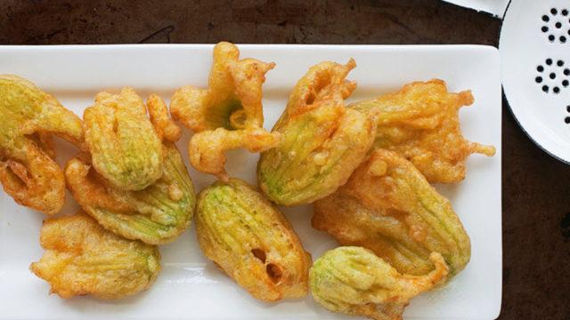 zucchini flower fritters recipe