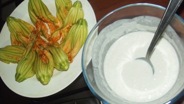 zucchini flower fritters recipe